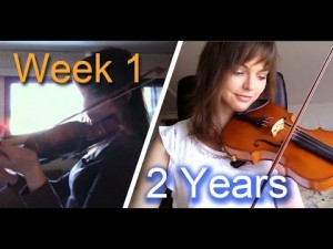 Adult beginner violinist – 2 years progress video