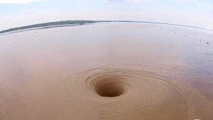 Here's A Giant Vortex Draining A Lake